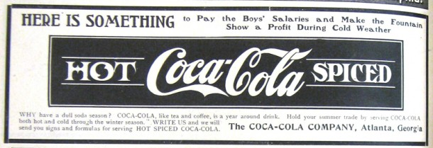 Hot Coca-Cola spiced ad 1907