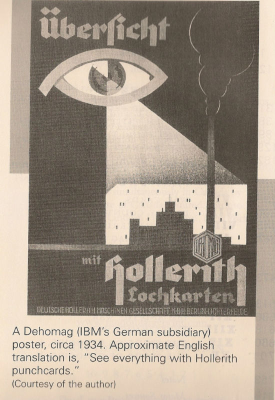 "IBM poster ""See everything with Hollerith punchcards"" 1934"