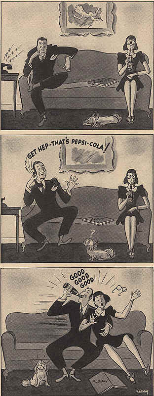Pepsi-Cola couple cartoon 1942