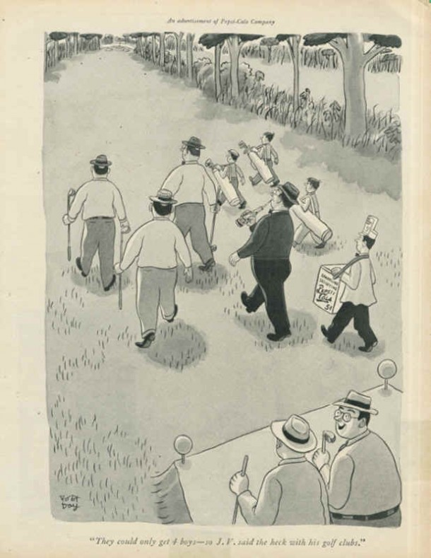 Pepsi-Cola golf club cartoon 1944