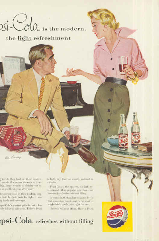 Pepsi-Cola is the modern 1954