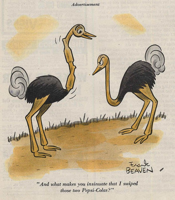 Pepsi-Cola ostrich cartoon 1943