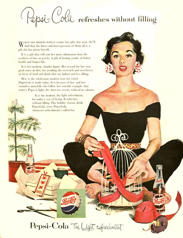 Pepsi-Cola refreshes without filling 1954
