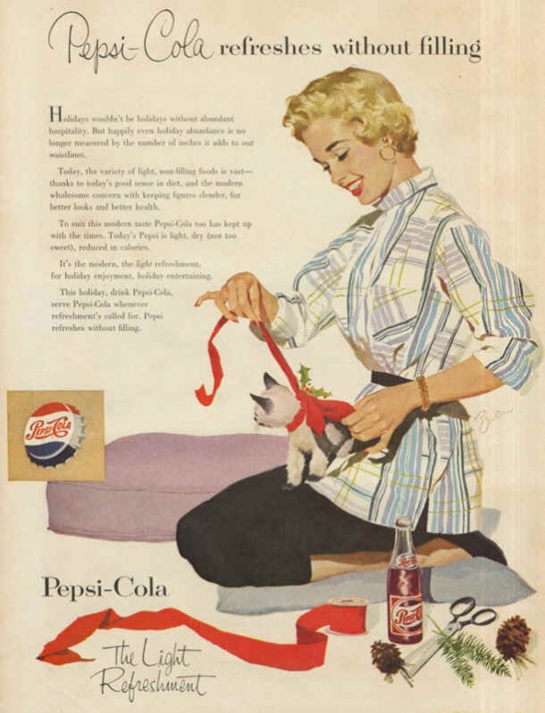 Pepsi-Cola the light refreshment 1953