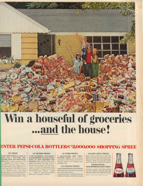 Enter Pepsi-Cola bottlers 2,000,000 shopping spree, 1965