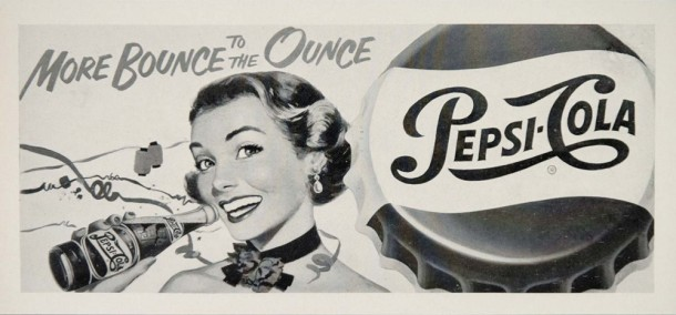 More bounce to the ounce, Pepsi billboard 1951