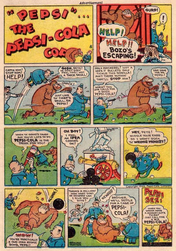 Pepsi Cola Cop - Escaped Gorilla 1946