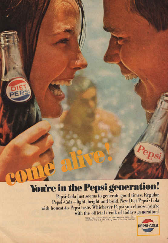 Pepsi-Cola just seems to generate good times, 1965
