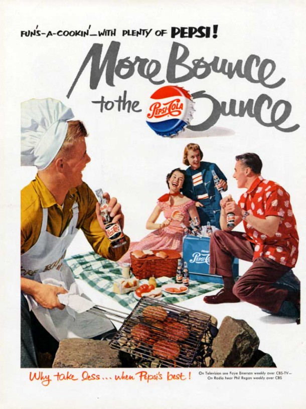 Fun's a cookin with plenty of Pepsi! 1950s