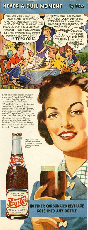 Even dull work seems brighter with Pepsi 1943