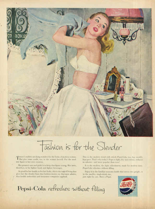 Fashion is for the slender 1953