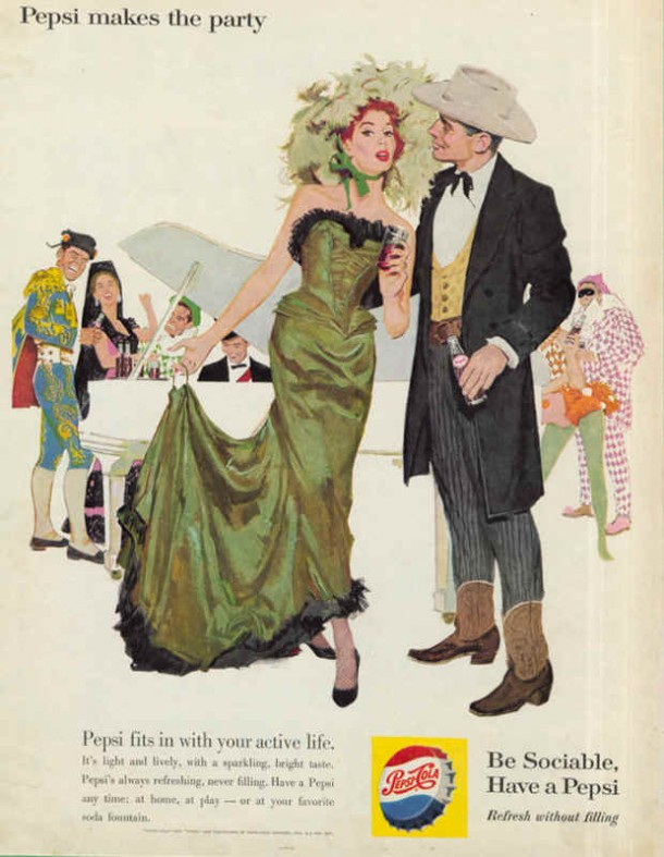 Pepsi fits in with your active life, 1960