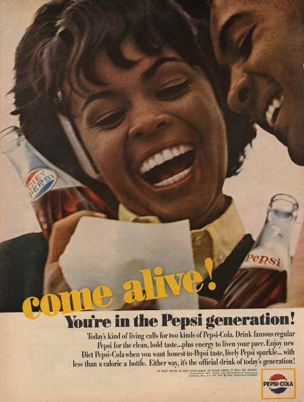 Drink famous regular Pepsi for the clean, bold taste..., 1964