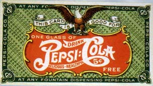 Pepsi free drink coupon 1905-1915 #1