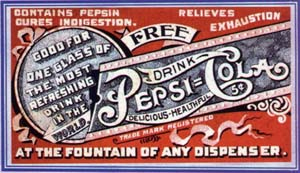 Pepsi free drink coupon 1905-1915 #2