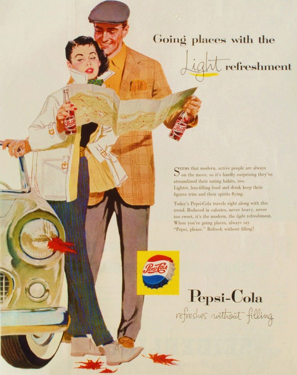 "Pepsi ""Going places with the light refreshment"" 1957"