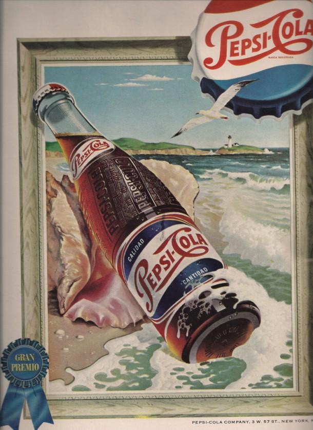 Pepsi Gran Premio vintage ad 1954