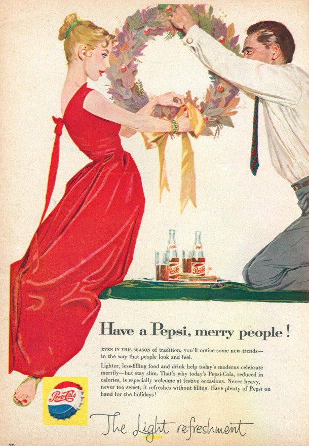 Have a Pepsi, merry people! 1957