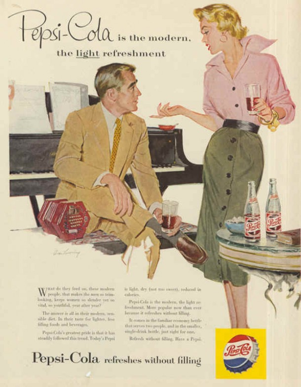 Pepsi-Cola is the modern, the light refreshment, 1960