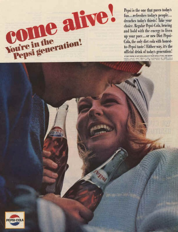Pepsi is the one that paces today's fun..., 1964