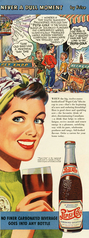 Pepsi lifts it's cap to you 1943