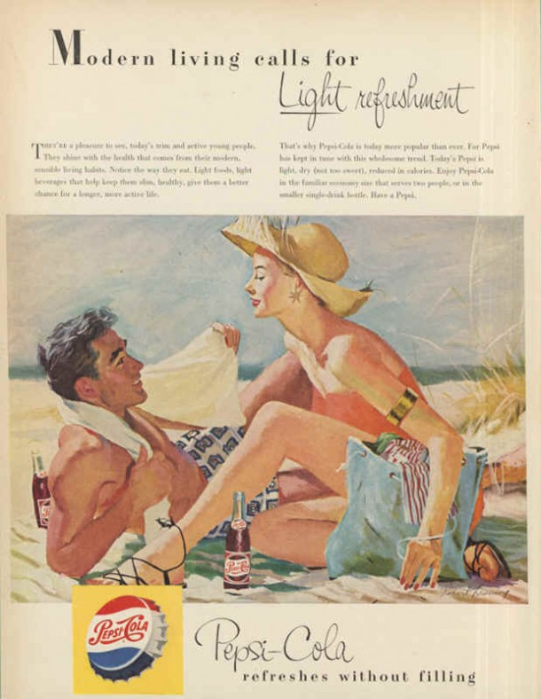 Modern living calls for light refreshment 1953