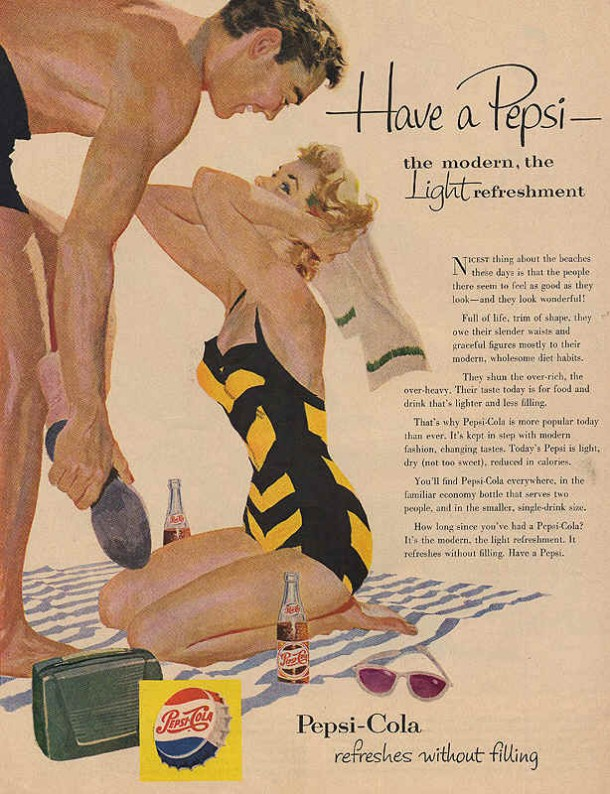 Have a Pepsi - the modern, the light refreshment 1954