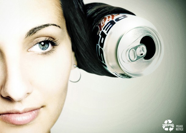 Pepsi recycle: hairstyle 2006