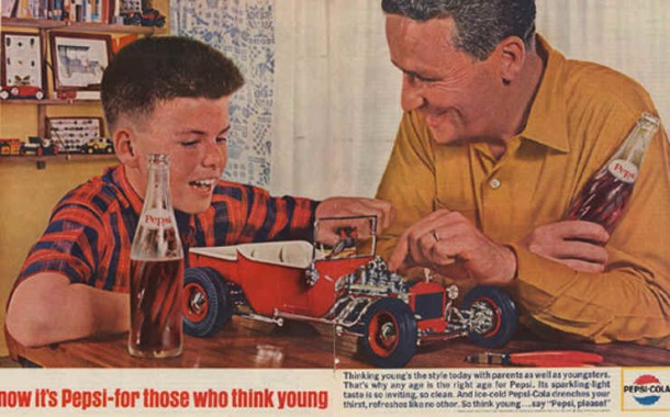 """So think young... say """"Pepsi, please!"""" 1964"""