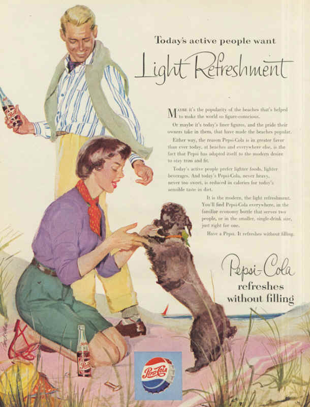 Taday's active people want light refreshment 1954