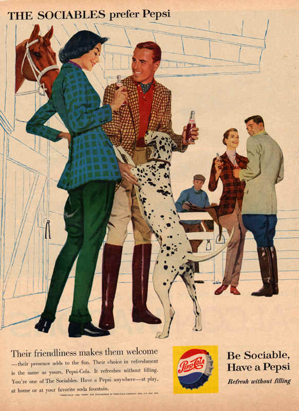 Their friendliness makes them welcome, 1960