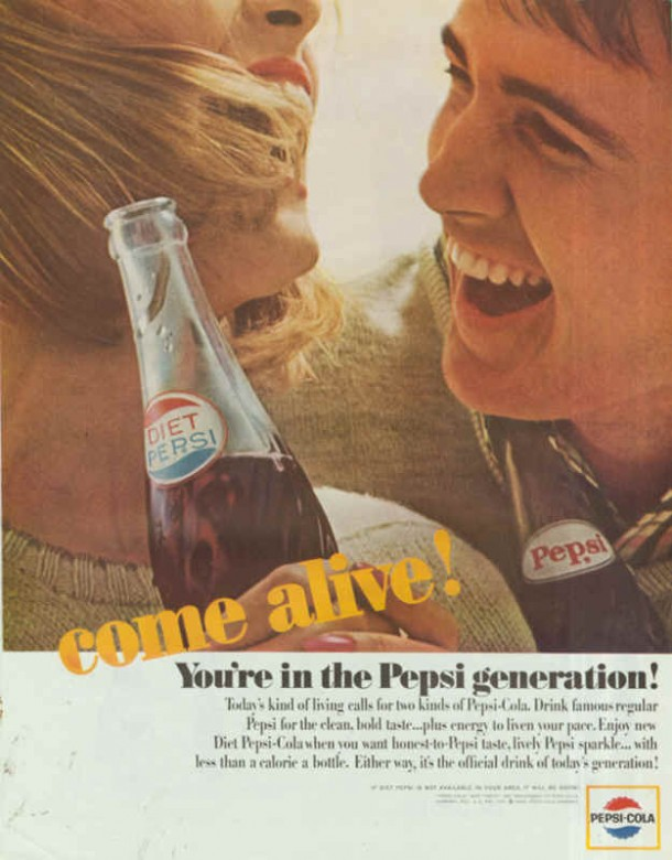Today's kind of living calls for two kinds of Pepsi-Cola, 1964