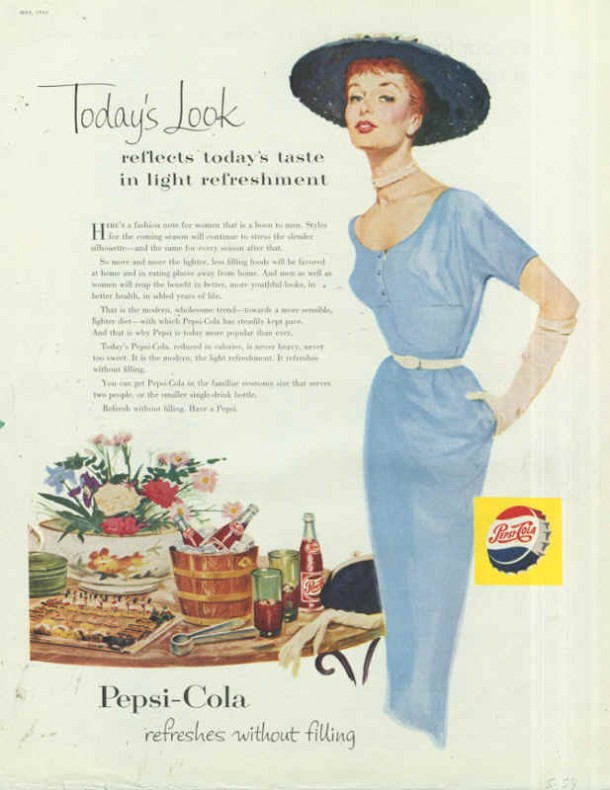 Today's look refleets today's taste in light refreshment 1954