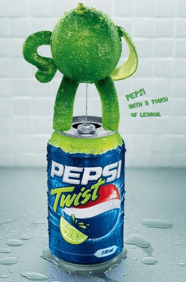 """Pepsi Twist: """"pee"""" 2004"""