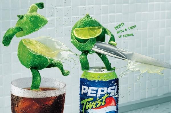 """Pepsi Twist: """"slice"""" 2004"""