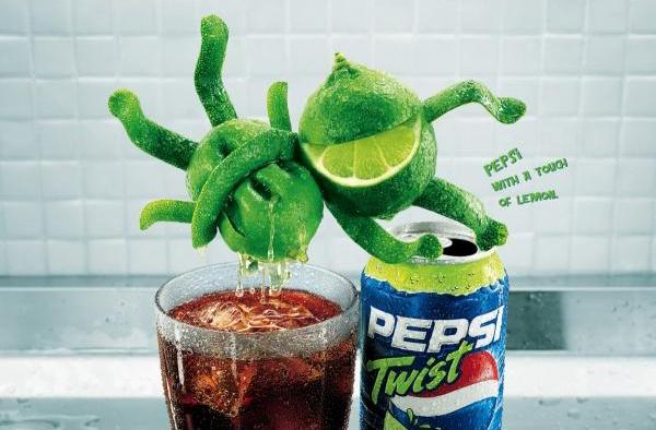 """Pepsi Twist: """"wet"""" 2004"""