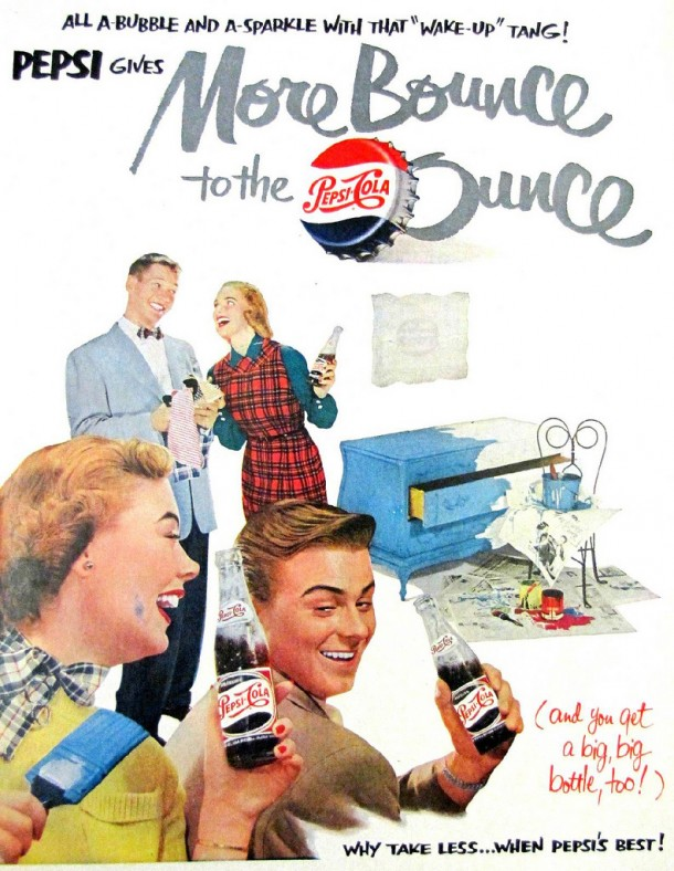 """All a bubble and a sparkle with that """"Wake-Up"""" Tang! 1951"""