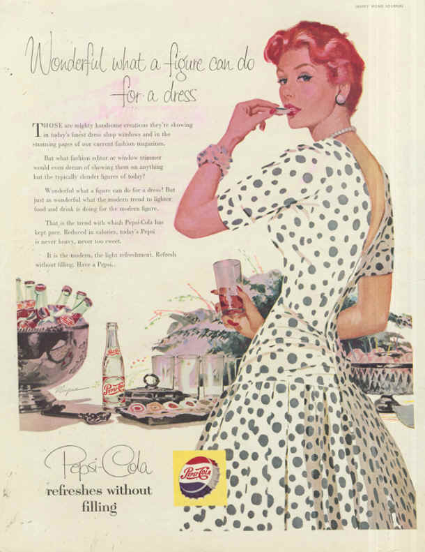Wonderful what a figure can do for a dress 1955