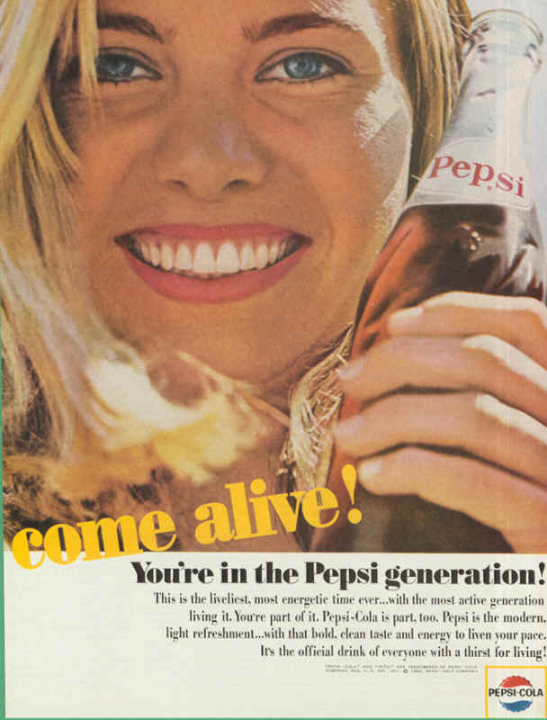 You are in the Pepsi generation! 1964
