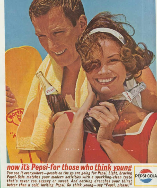 You see it everywhere - people on the go are going for Pepsi, 1963