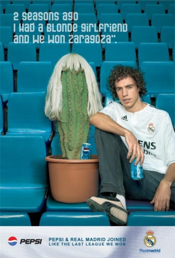 2 seasons ago I had a blonde girlfriend and we won Zaragoza