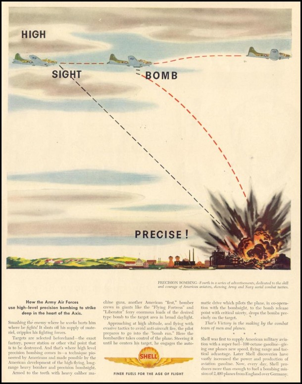 Shell wartime magazine ad, 1944