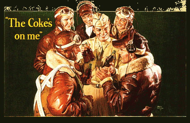 """Frank Bensing illustration for """"The Coke's On Me"""", c.1943"""