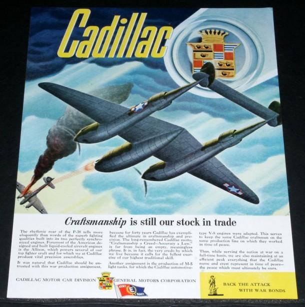 WWII Cadillac magazine ad, 1943